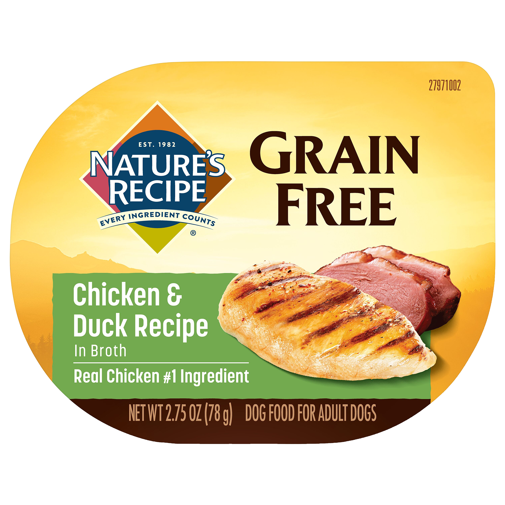 Grain Free Easy to Digest Chicken & DuckRecipeDog Food in Broth