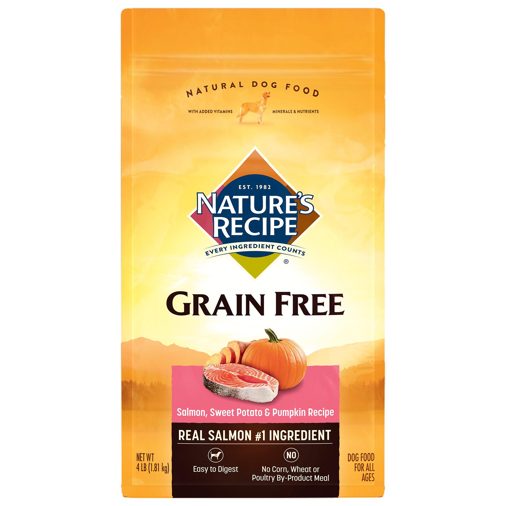 Grain Free Easy to Digest Salmon, Sweet Potato & PumpkinRecipeDog Food