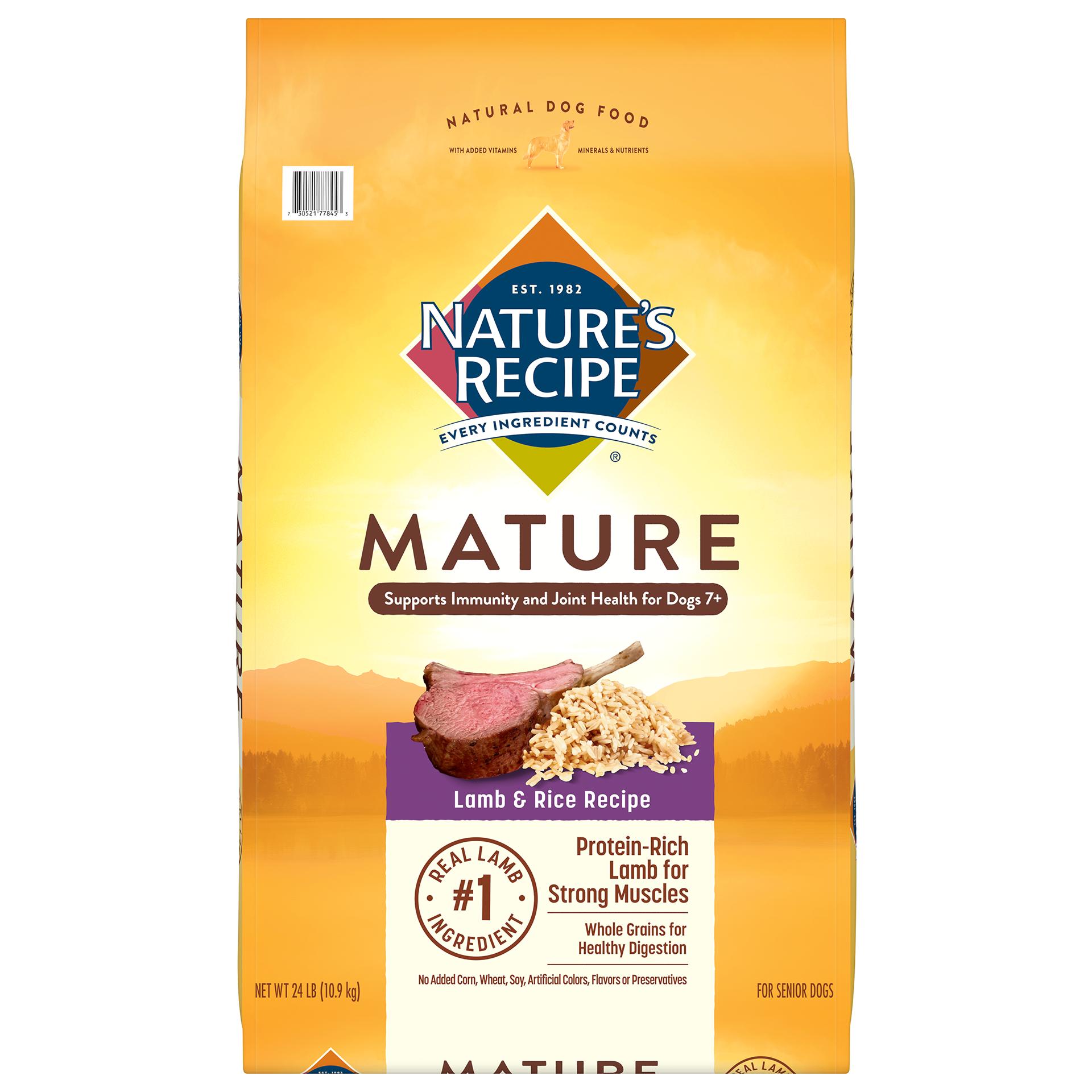 Nature's Recipe Mature Lamb and Rice Recipe Dry Dog Food