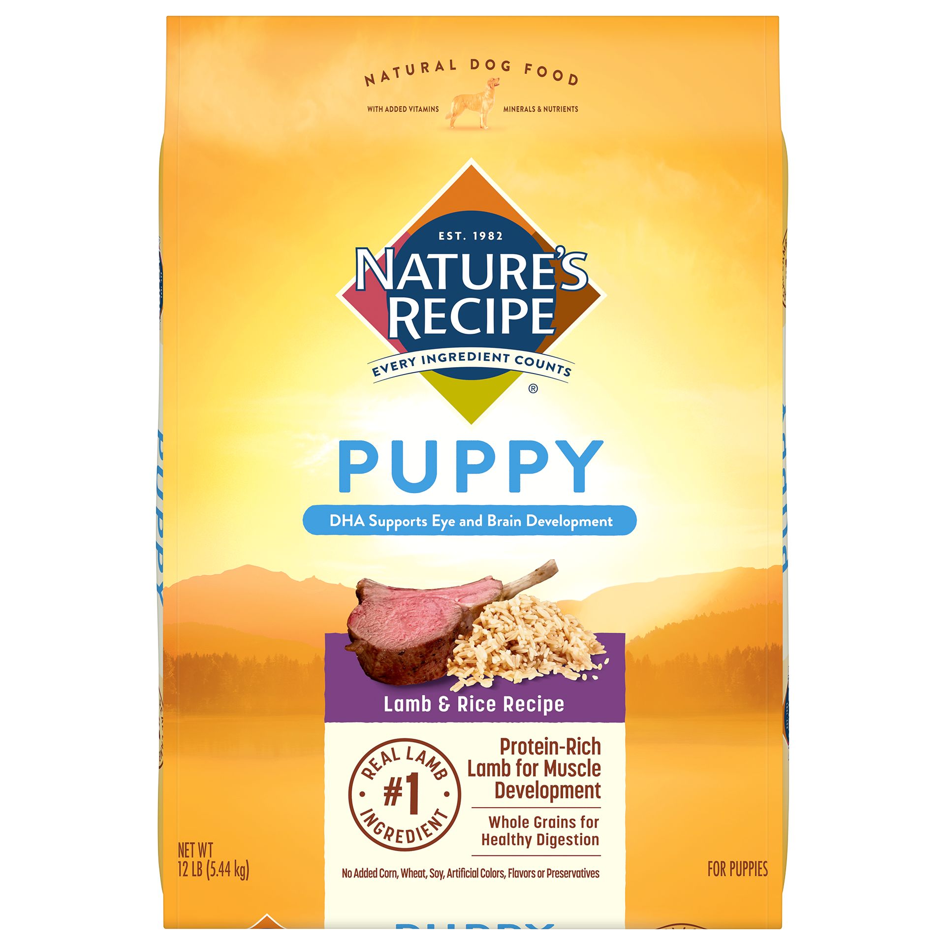 Nature's Recipe Puppy Lamb and Rice Recipe Dry Dog Food