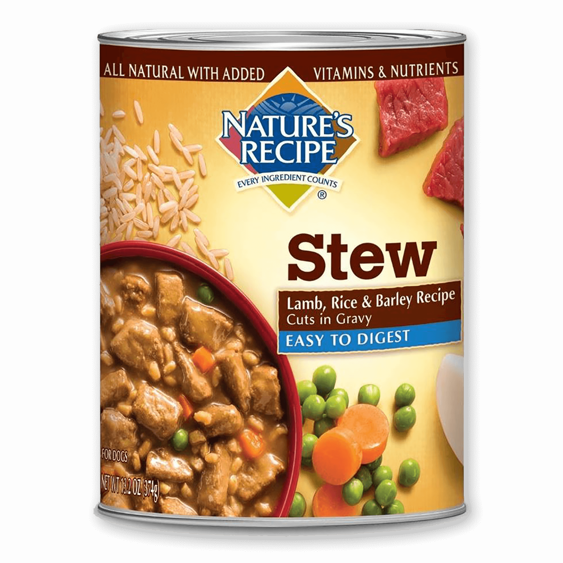 Stew Easy to Digest Lamb, Rice, & Barley Recipe Cuts In Gravy