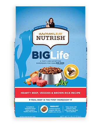 Rachael Ray™ Nutrish® Big Life™ Hearty Beef, Veggies & Brown Rice Recipe