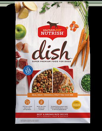 Nutrish DISH® Beef & Brown Rice Recipe With Veggies, Fruit & Chicken