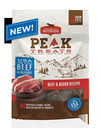 PEAK Beef & Bison Recipe Dog Treats  bag