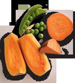 Pumpkin, Peas & Sweet Potatoes