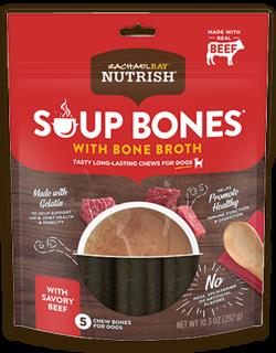 Rachael Ray® Nutrish® Soup Bones™ Dog Chews With Bone Broth Savory Beef Recipe