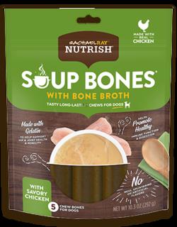 Rachael Ray® Nutrish® Soup Bones™ Dog Chews With Bone Broth Savory Chicken Recipe