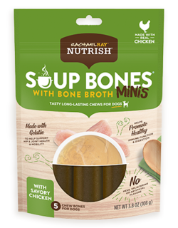 Rachael Ray® Nutrish® Soup Bones™ Mini Dog Chews With Bone Broth Savory Chicken Recipe