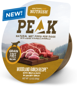 Woodland Ranch Recipe® Dog Food With Beef & Duck in Savory Gravy